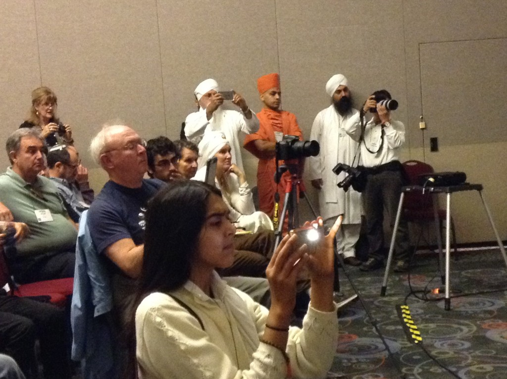 Some of the audience for Elijah's presentation at Parliament of World Religions