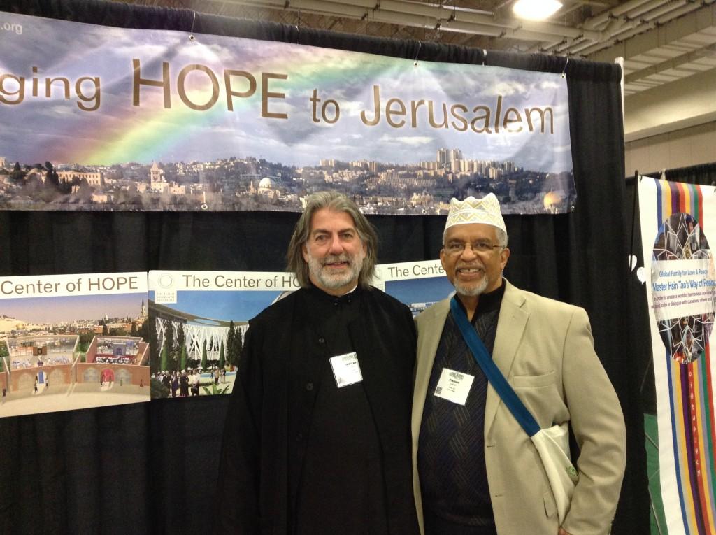 Metropolitan Nikitas Lulias and Imam Plemon El-Amin under Elijah's HOPE banner