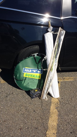 Although photography is not allowed in Indiana State Prison, I got a short of my Sukkot gear in the parking lot