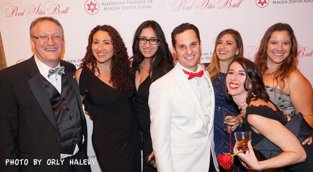 Center-Barak Raviv, recipient of the Next Generation Award with friends