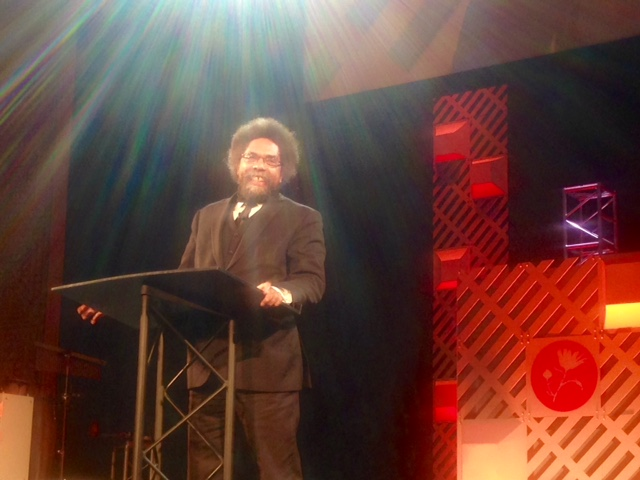 Cornel West at the Justice Conference.