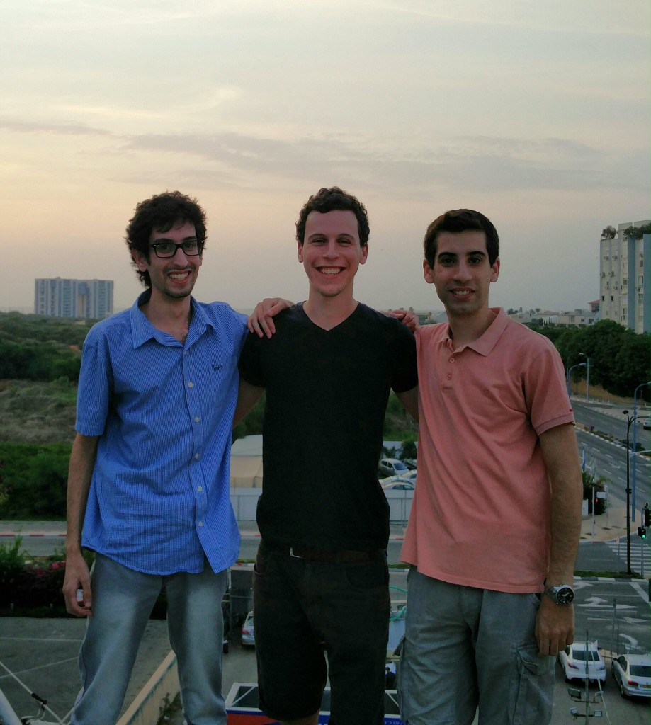 Left to right: Husam, me, Ahmad
