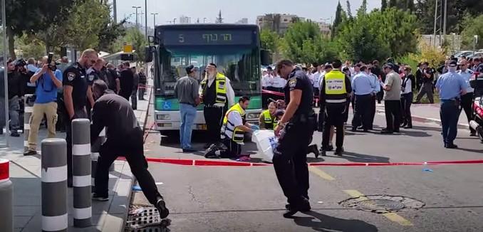 Cena de um ataque com faca contra Israelenses esta semana, em Jerusalém.