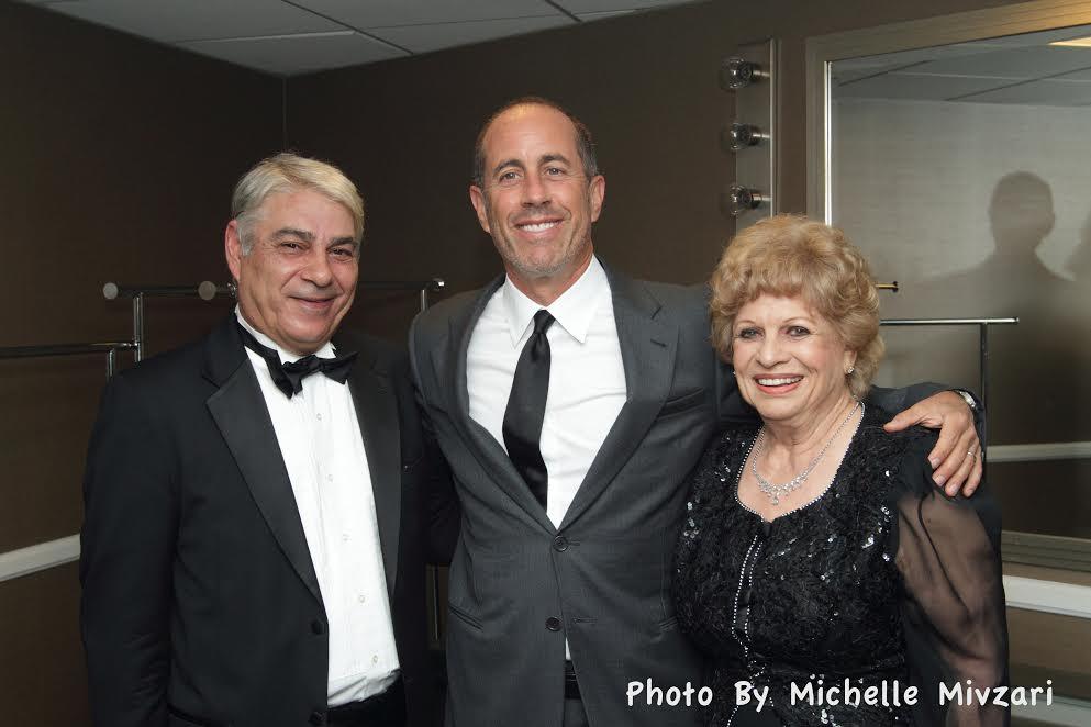 R-Ben Marandy, Jerry Seinfeld and Ruth Flinkman-Marandy
