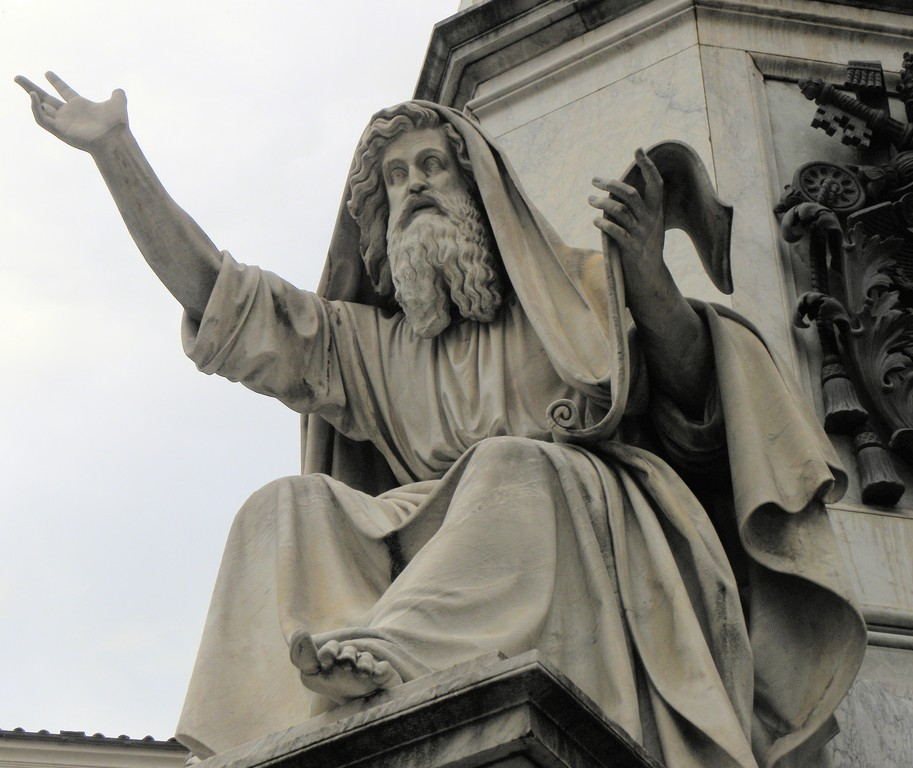 photo of Jeremiah sculpture in Rome