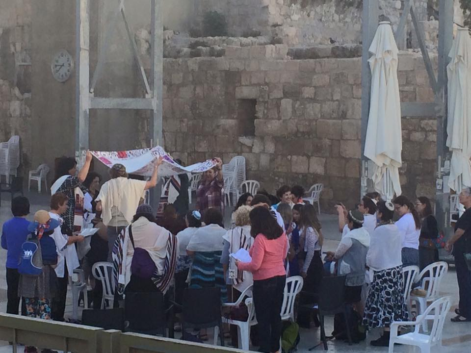 Bat Mitzvah at the Kotel with Women of the Wall. Photo by Charlie Kalech
