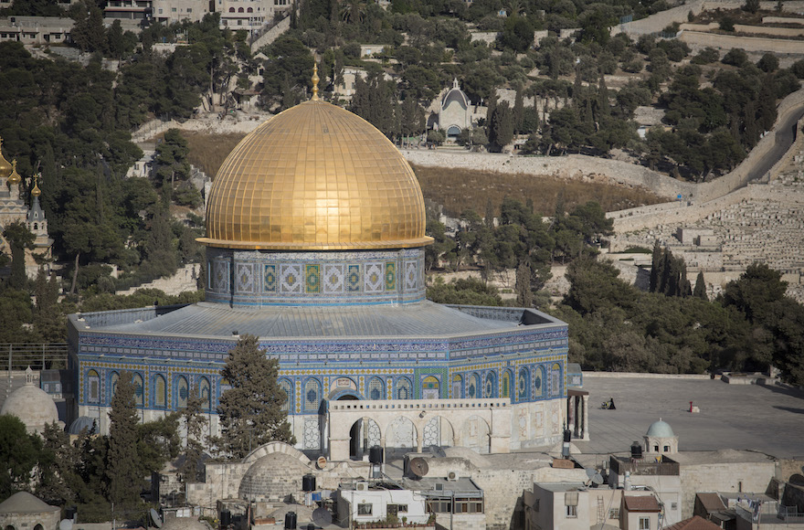View of the Dome of the Rock, on the Temple Mount in Jerusalem (Hadas Parush/Flash90)