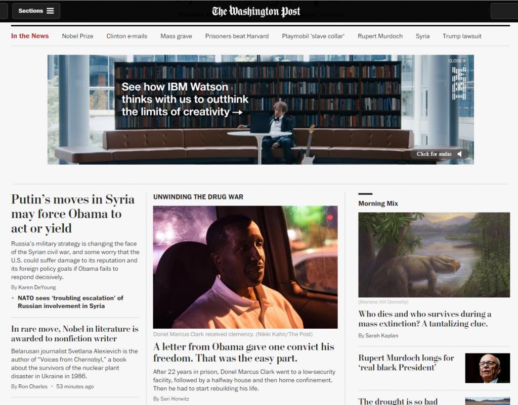 Washington Post Homepage