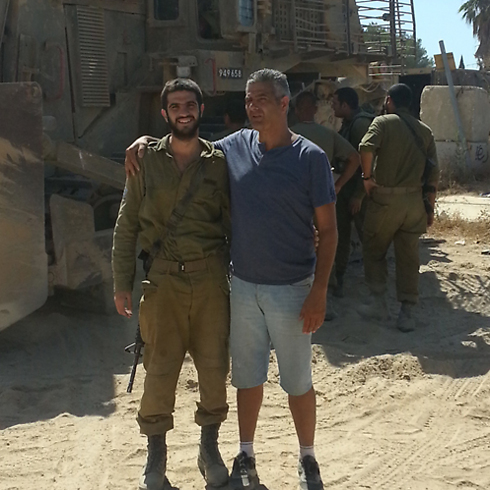Adiel Levy and father Uzi several days before injury-photo curtesy the Levy family