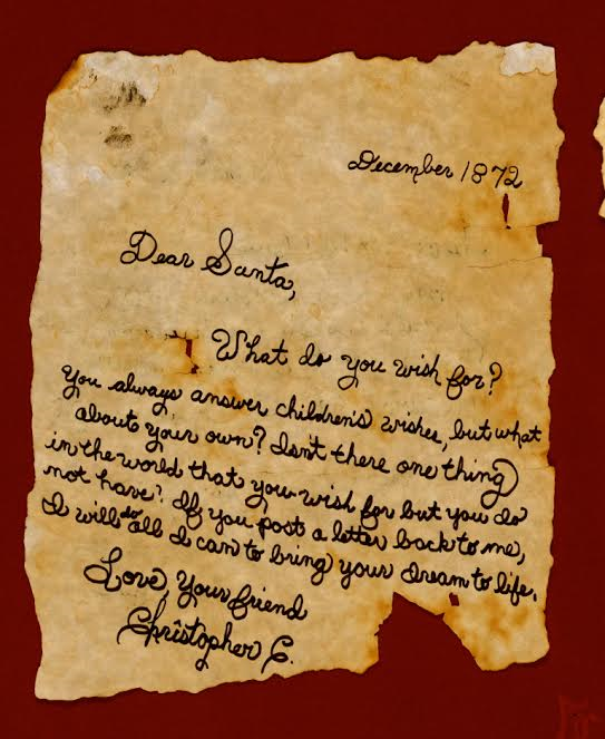 Christopher, the little boy's letter to Santa Claus-Photo courtesy of Miss Ryan