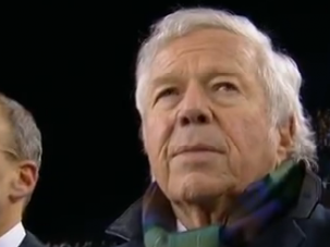 Robert Kraft, Patriots owner, during the moment of silence