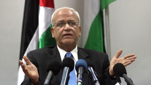 Saeb Erekat, chief Palestinian negotiator (Flash90/File/Issam Rimawi)
