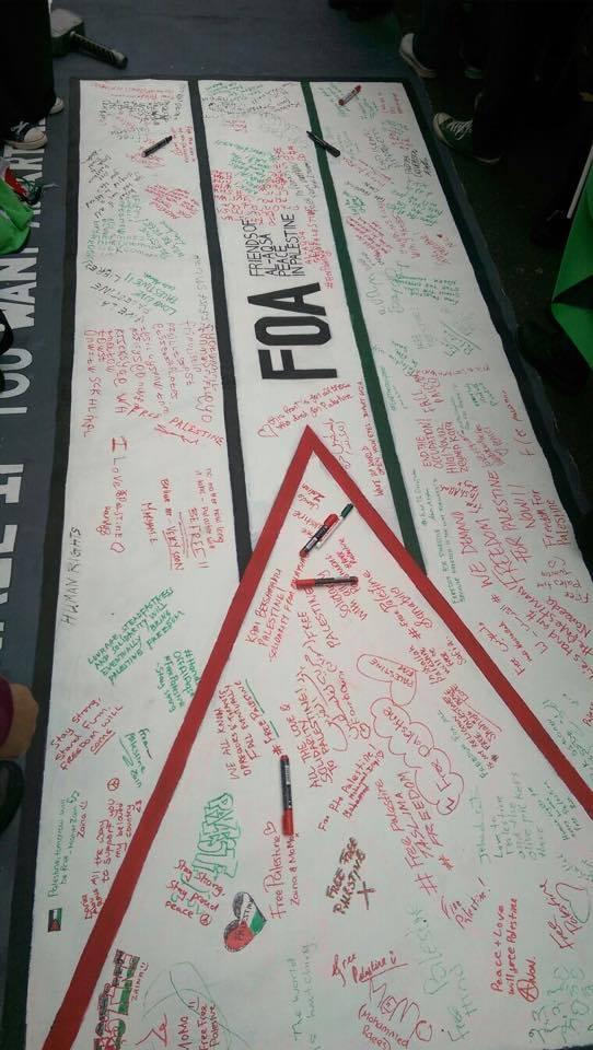 Friends of Al-Aqsa whiteboard