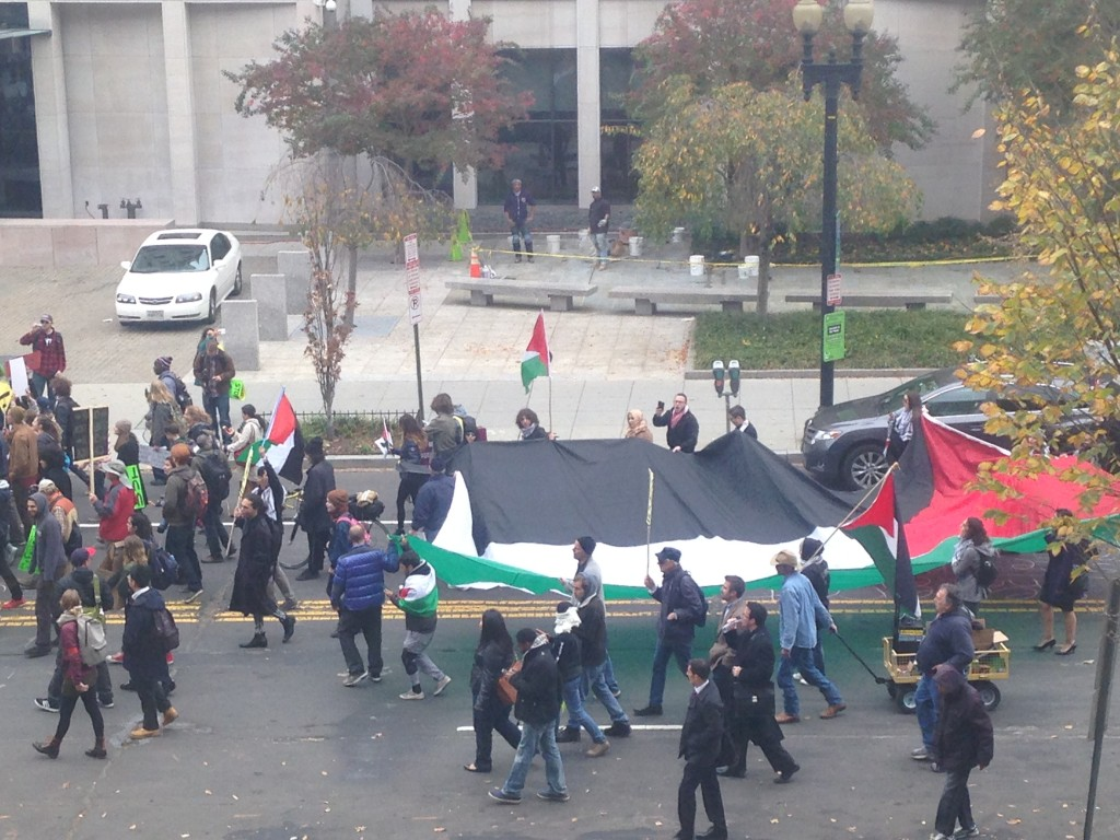 Palestinian Flag on 16th Street NW in Washington, DC