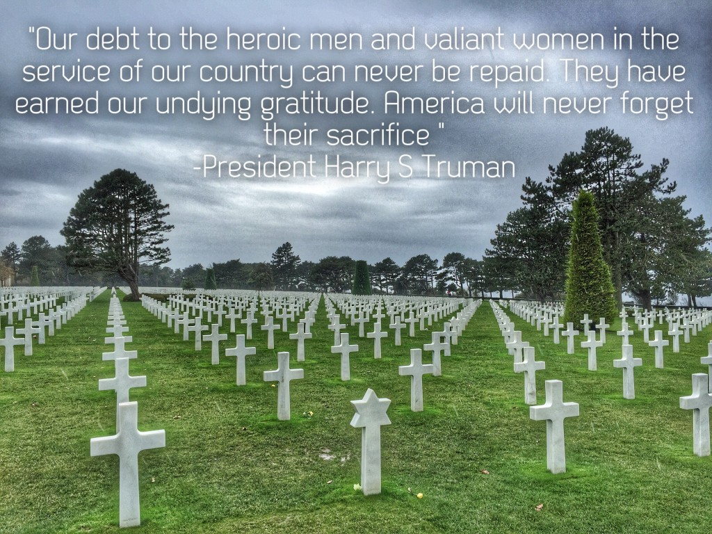 The Normandy American Cemetery and Memorial in Colleville-sur-Mer,, France. November 5, 2015. (Photo and image edit by David Metzler)
