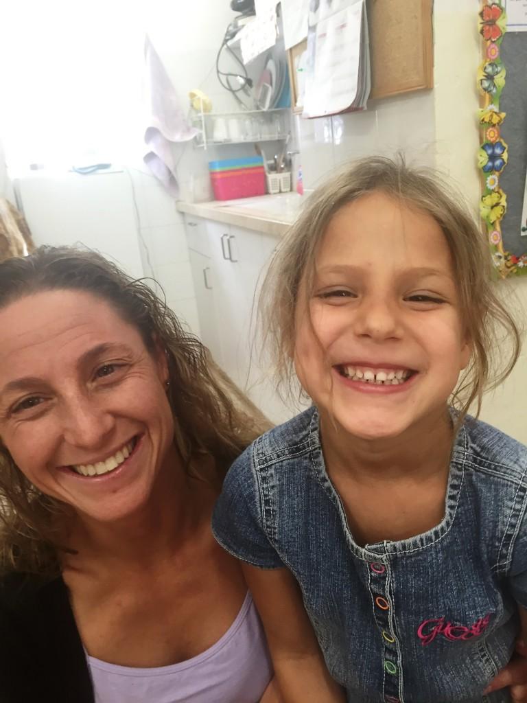 All smiles at kindergarten.