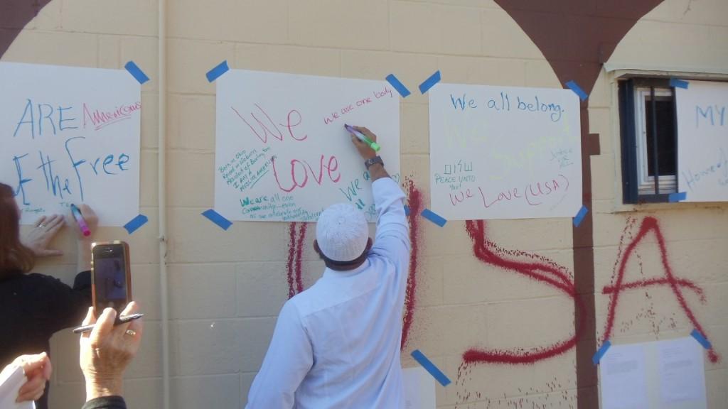 """Photo from Burlington Mosque """"retagging"""" event - ShalomPeaceUntoYou"""