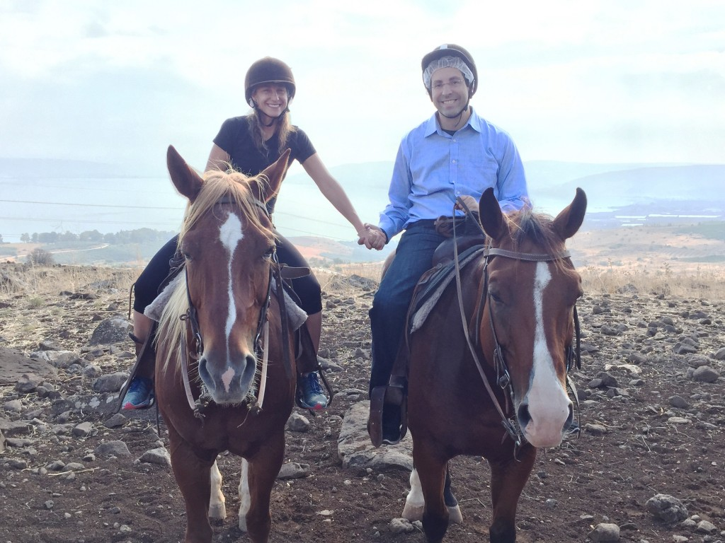 Horseback riding in the north.