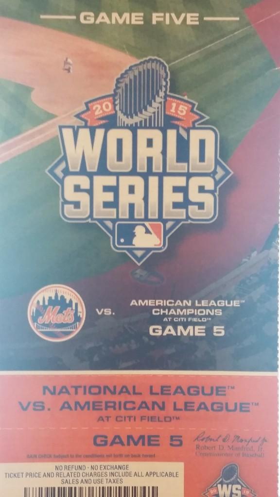 World Series ticket