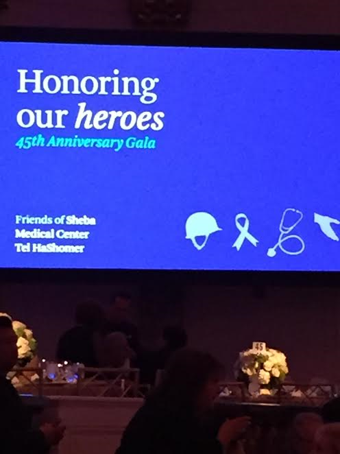 Gala banner: Honoring Our Heroes-Photo Nurit Greenger