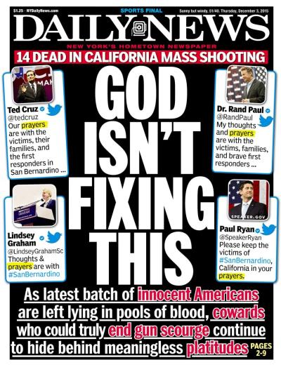 12-3-15 NY Daily News front page