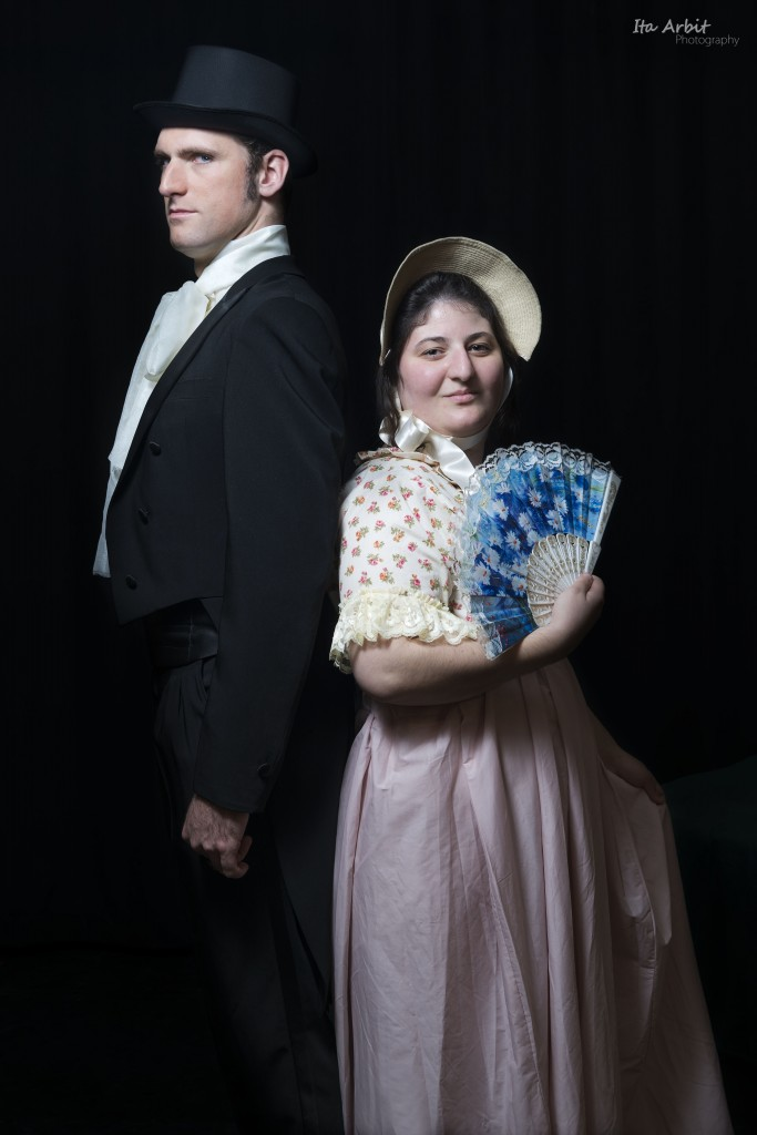 Darcy and Elizabeth - from Pride and Prejudice at the AACI (Credit: Ita Arbit)
