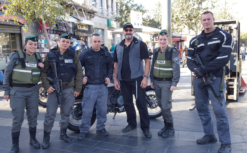 Winslow Swart with the Mishteret Secuirty in Jerusalem