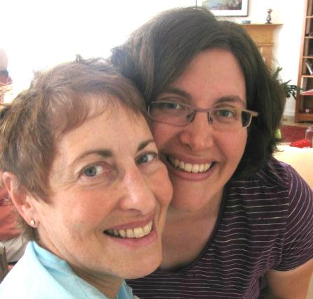 Mom Audrey Leonard Borschel and me in August 2009. (Ingrid Bellman)