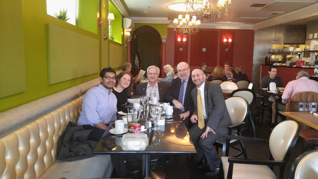 Muslim, Christian, Jewish lunch participants photo