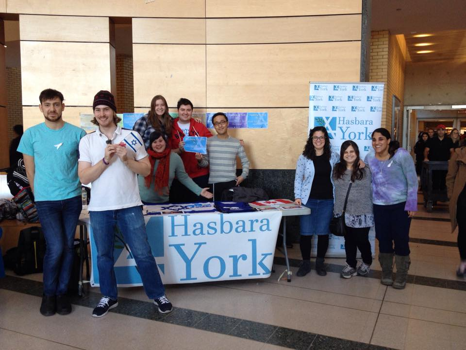 End of Fall Tabling, November 24th, 2015. photo: Hasbara York