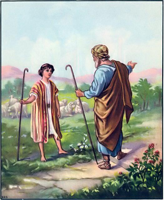 Biblical Scene Genesis 37:14-17