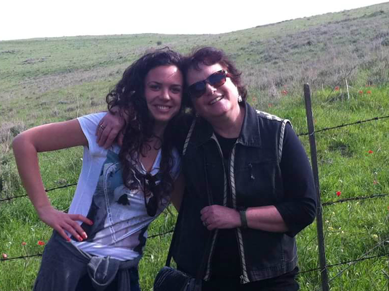 Sharon and her daughter, Sarit.