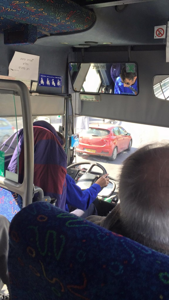 The 405 bus from Jerusalem to Tel Aviv
