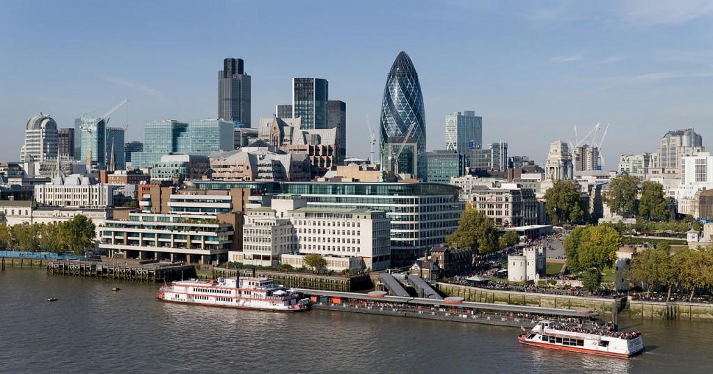 City of London skyline from London City Hall - Oct 2008 (CC via Wikimedia)