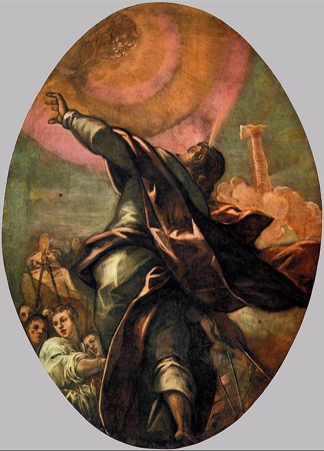 Jacopo Tintoretto's Pillar of Fire (Wikimedia Commons)