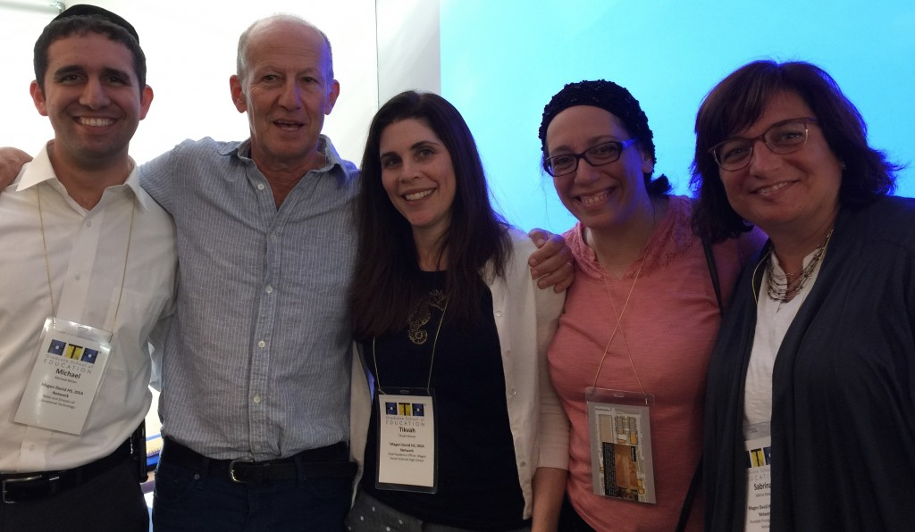 My Magen David Yeshivah colleagues and I with the High Tech Schools' Founder and CEO, Larry Rosenstock. From left, Rabbi Michael Bitton, Larry Rosenstock, me, Mrs. Esther Tokayer, and Mrs. Sabrina Maleh