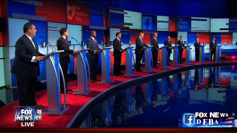 Participants of the first GOP debate. (Credit: Fox News, 2015)