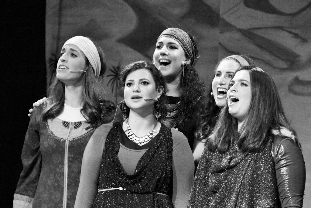 The five 'sisters' in Sisters! The Daughters of Tzelofchad (Photo credit: Laura Ben-David)