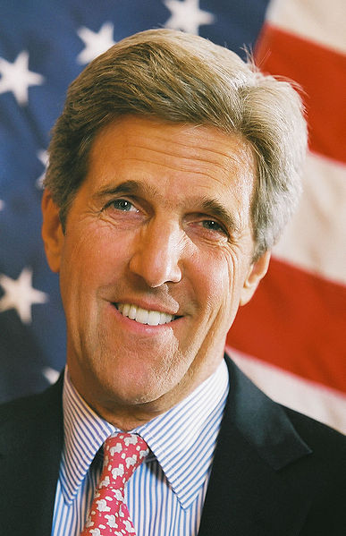 To dream an impossible dream... Ladies and Gentlemen, US Secretary of State John Kerry! {public domain}