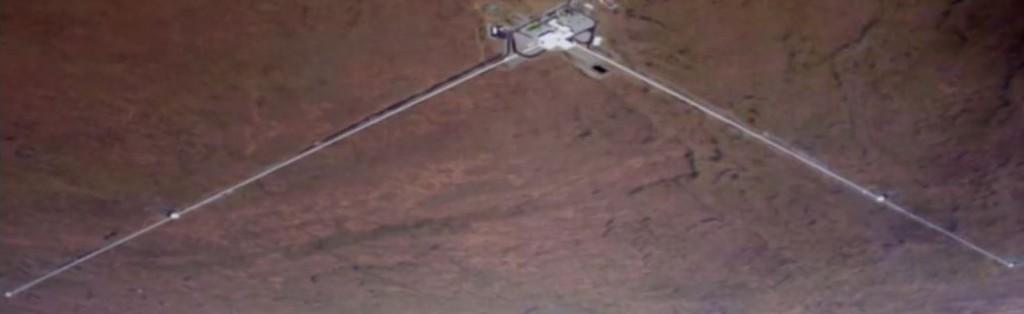 Each of LIGO's arms is 4 kilometers in length. (LIGO in Hanford, Washington)
