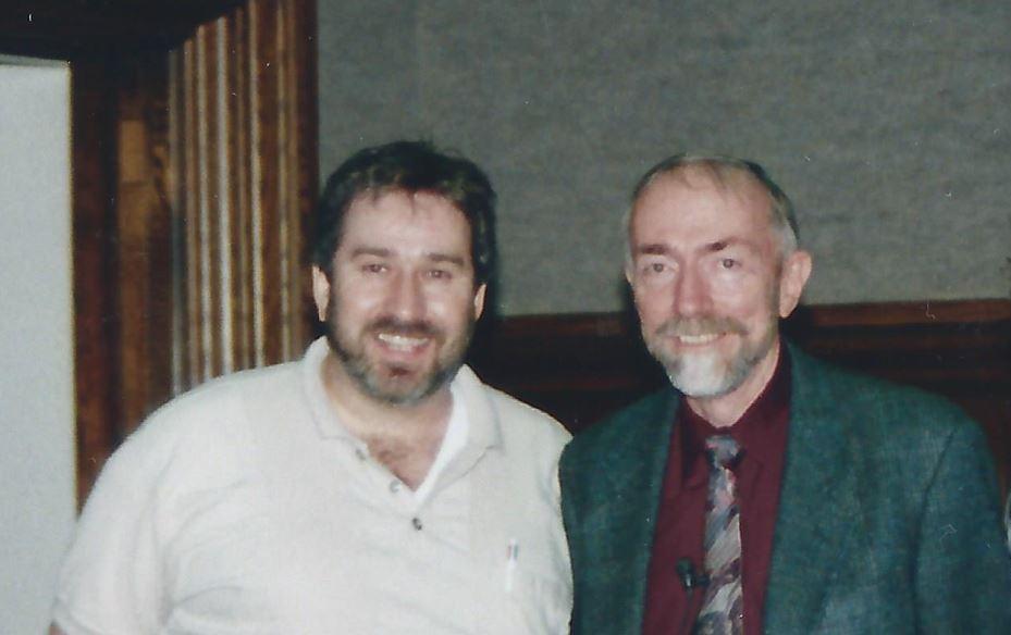 Yoeli Kaufman and Kip Thorne in 1998