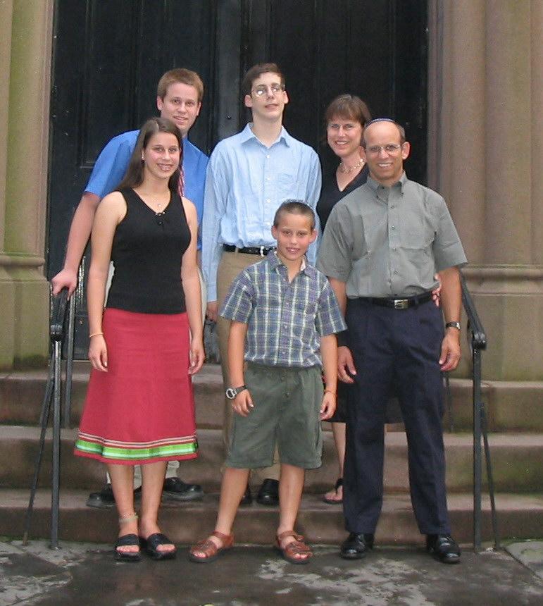 Sarah and her family at Natan (my eldest) Bar Mitzvah, 2003.