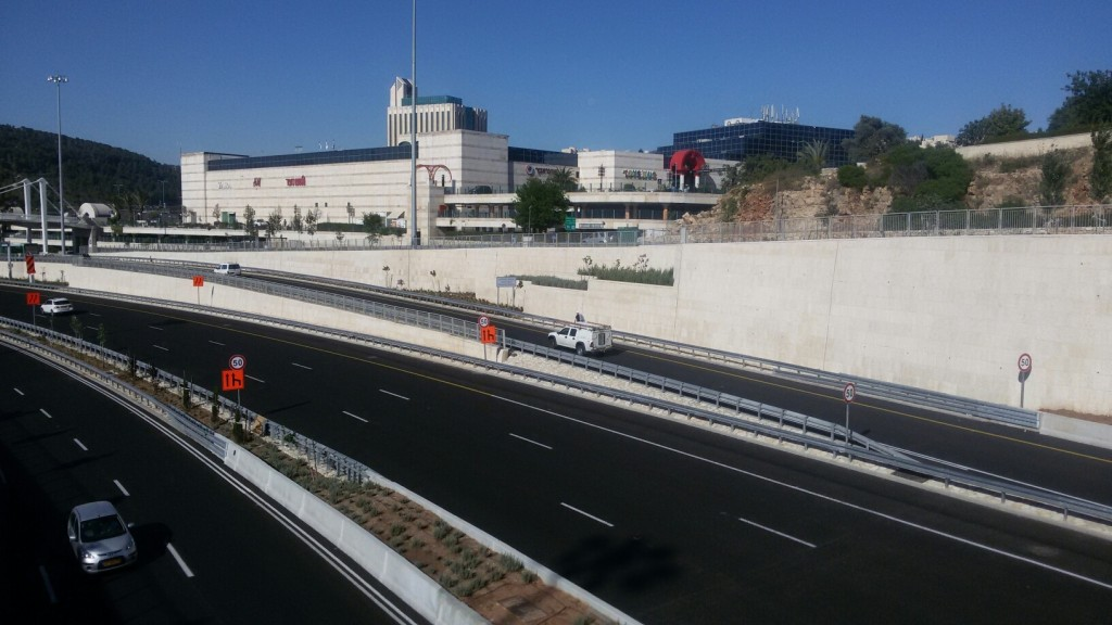 view of begin from overpass on way to malha