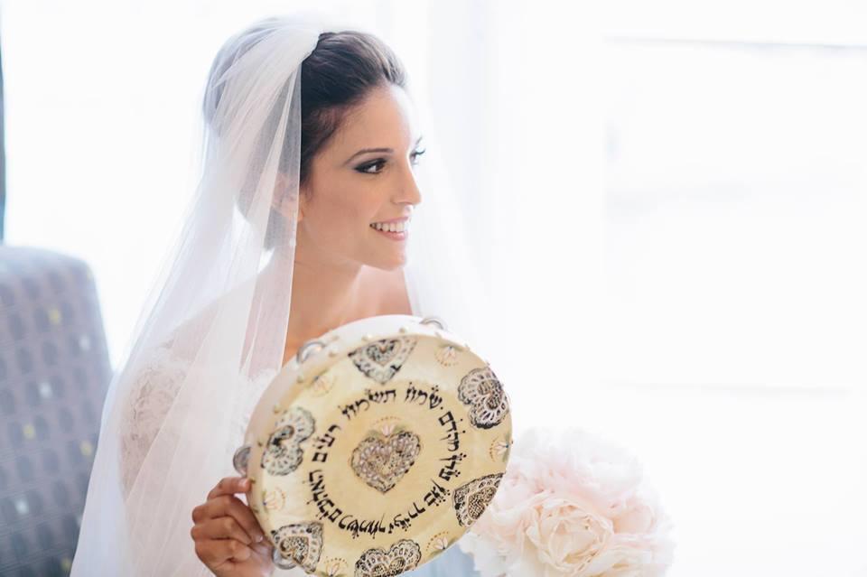 Birkat Kallah Hand-painted Tambourine