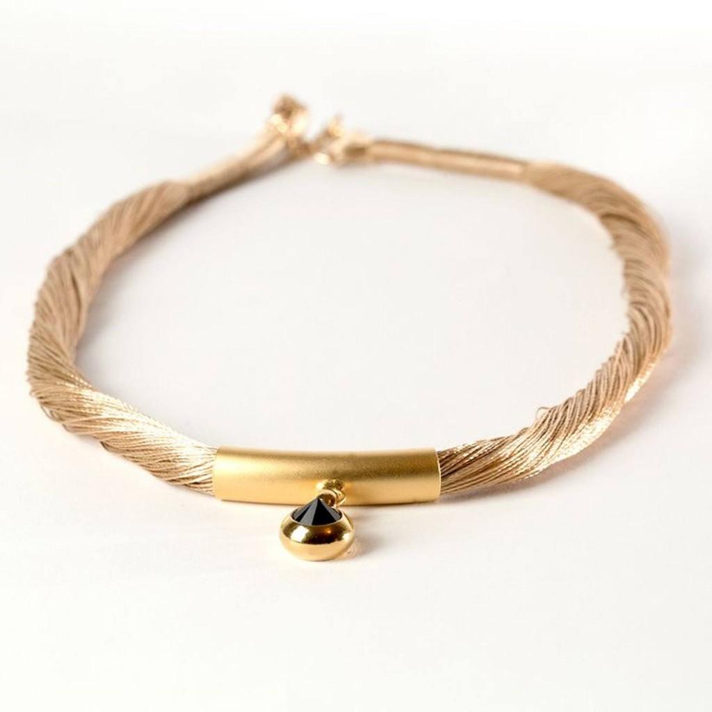 Handmade Golden Threads Necklace