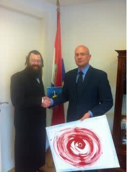 Ambassador-Pjer-Šimunović-and-Artist-Joseph-ShermanCROPPED