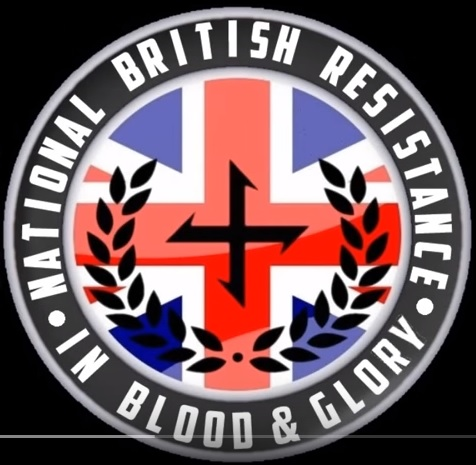 The cat of arms of the National British Resistance - one of Joshua Bonehill-Paine's organisations {YouTube screen capture}