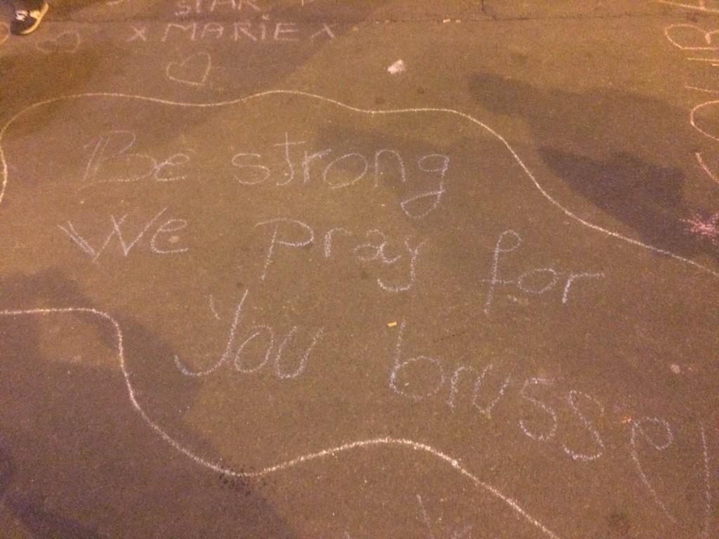 My message at the Place de la Bourse tribute center following the attacks