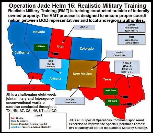 Jade Helm Map