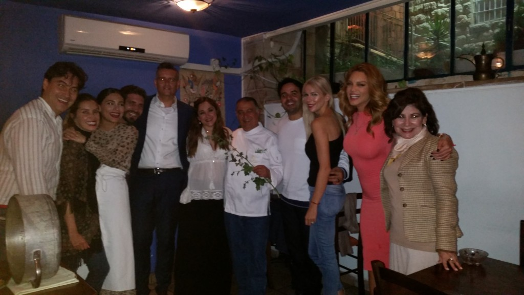 The author with the group of Latino celebrities brought to Israel by the Ministry of Strategic Affairs